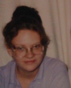 Uh, this is 15-year-old me. Black hair & super terrible glasses. Yet... I had friends. I can't even comprehend it myself.