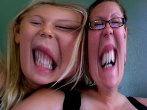 Beaver teeth in Photo Booth, your favorite.